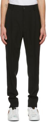 Dolce & Gabbana Black Wool Pleated Trousers