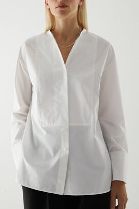 Cos Cotton Bib Insert Tunic-Style Shirt