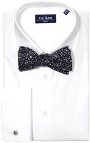 The Tie Bar White Pinpoint Solid - French Cuff Non-Iron Shirt