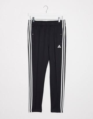 adidas Training three stripe tiro sweatpants in black