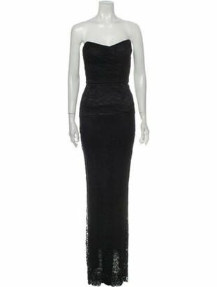 Dolce & Gabbana Strapless Long Dress Black