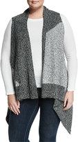 Vince Camuto Colorblock Knit Vest, New Ivory, Plus Size