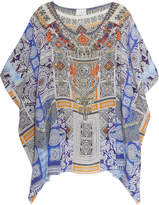 Camilla Chinese Whispers Crystal-embellished Printed Silk Crepe De Chine Kaftan