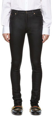 Gucci Black Coated Skinny Jeans