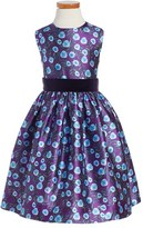 Oscar de la Renta Girl's 'Petite Roses' Mikado Party Dress