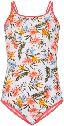 New Look Girls Floral Macrame Strappy Swimsuit