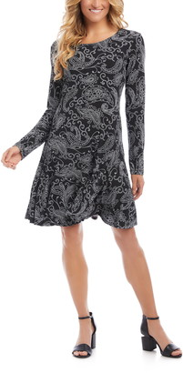 Karen Kane Dakota Print Long Sleeve Dress