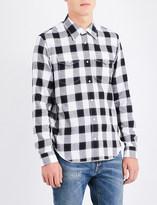 Maison Margiela Regular-fit checked lurex cotton shirt