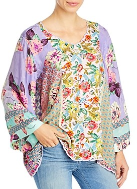 Johnny Was Ilene Floral Peasant Top