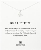 Dogeared Sterling Silver Beautiful Butterfly Necklace, 16""