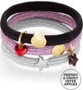 Marc Jacobs Heart Star Pony Bracelet Set- Pink