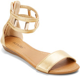 Star Bay Women's Sandals Gold - Gold Dual-Strap Sandal - Women