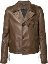 Lanvin buttoned jacket - men - Lamb Skin/Viscose - 48