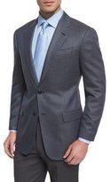 Armani Collezioni G-Line Mini Neat-Print Sport Coat, Blue/Brown