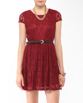 Forever 21 Lace Fit & Flare Dress