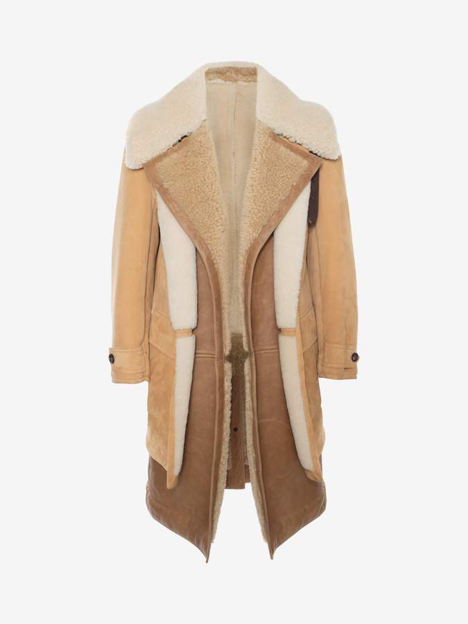 Alexander McQueen Dual Layer Shearling Coat