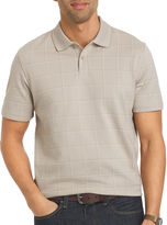 Van Heusen Short-Sleeve Windowpane Polo