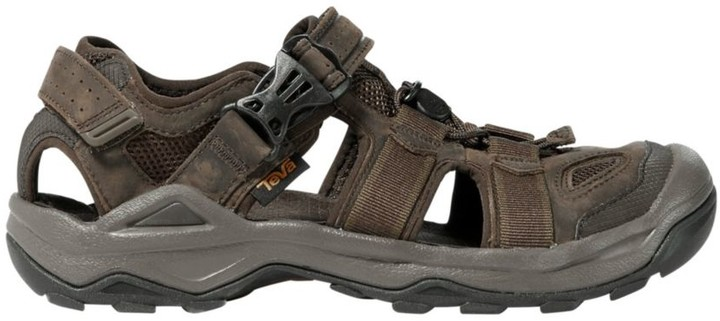 Baviue Mens Athletic Leather Outdoor Closed Toe Sandles Beach Sandals