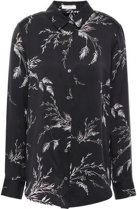 Equipment Essential Floral-print Washed Silk-blend Shirt