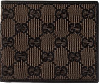 Gucci Black/Brown GG Canvas Bi-Fold Wallet