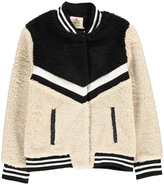 Little Eleven Paris Romy Faux Fur Bomber Jacket