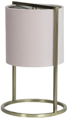 Light & Living Contemporary Table Lamp With Pink Velvet Shade