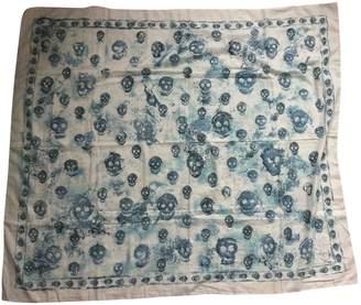 Alexander McQueen Blue Cotton Scarves