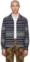 Dries Van Noten Navy Stripe Crola Jacket