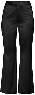 Josie Natori Women's Satin Tuxedo Flare Pants