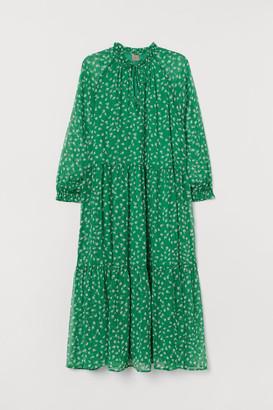 H&M H&M+ Chiffon Dress - Green