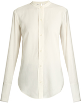 Helmut Lang Back-knot raw-edge blouse