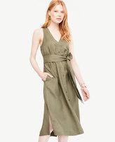Ann Taylor Sleeveless Midi Shirt Dress