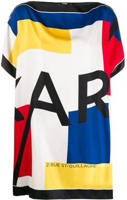 Karl Lagerfeld Paris Silk Scarf Tunic Top
