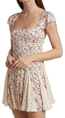 Free People Ponderosa Floral Mini Dress