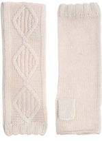 Angora & Lambswool Blend Classic Cable Arm Warmer