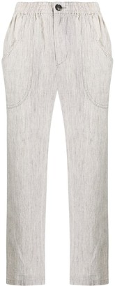 Blue Blue Japan Cropped Slim-Fit Trousers