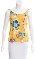 Dolce & Gabbana Chain-Accented Floral Print Top