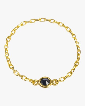 Yi Collection Black Diamond Reverse Set Chain Ring