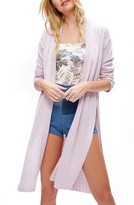 Free People Women's Ribby Long Cardigan