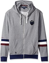 U.S. Polo Assn. Men's French Terry Crest Logo Hooded Jacket