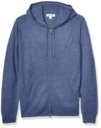 Goodthreads Merino Wool Fullzip Hoodie Sweater Denim 2X Tall