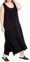 Rachel Roy Plus Size Women's Side Drape Maxi Dress