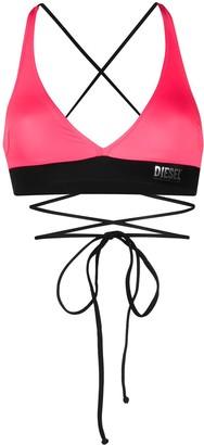 Diesel cross strap bikini top