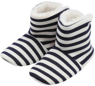 M&Co Stripe boot slippers