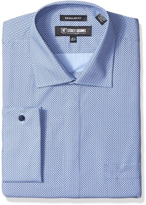 Stacy Adams Men's Big and Tall Big & Tall Dot Print Classic Fit Dress Shirt