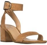 Franco Sarto Marcy Ankle Strap Block-heel Sandals, Dark Camel.