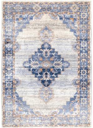 """nuLoom Johnnie Vintage-Style Area Rug, Blue, 5'x7'5"""""""