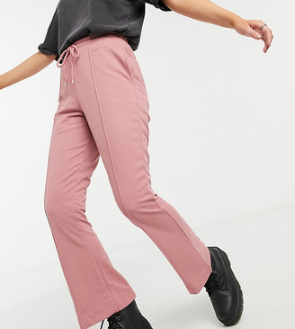 Reclaimed Vintage inspired flare sweatpants with pintuck in pink rose