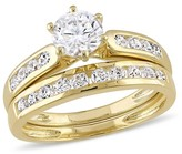 Allura 2 3/5 CT. T.W. Cubic Zirconia Channel Set Bridal Set in Yellow Plated Sterling Silver