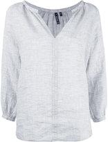 Woolrich v-neck blouse - women - Linen/Flax - M